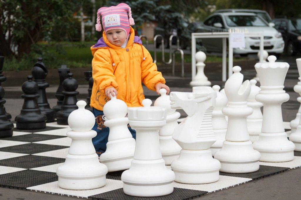 Турнир по гигантским шахматам прошел в Москве