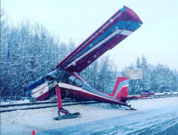 Источник: самолет мог приземлиться на Ярославское шоссе из-за мороза