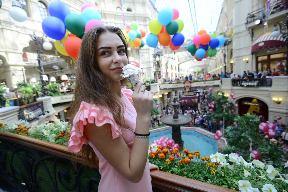 День мороженого стартовал в московском ГУМе