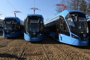 Трамваи нового поколения вышли на маршрут №17. Фото: «Вечерняя Москва»