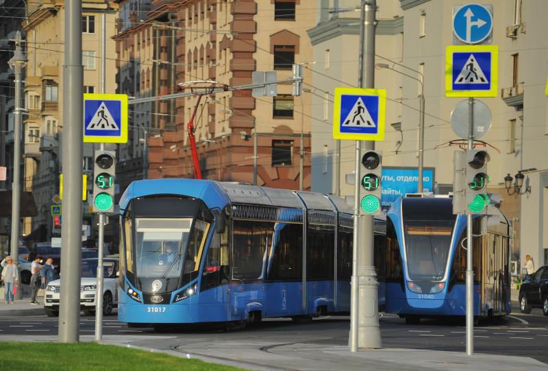 """Трамвай изменит маршрут. Фото: Александр Кожохин, """"Вечерняя Москва"""""""