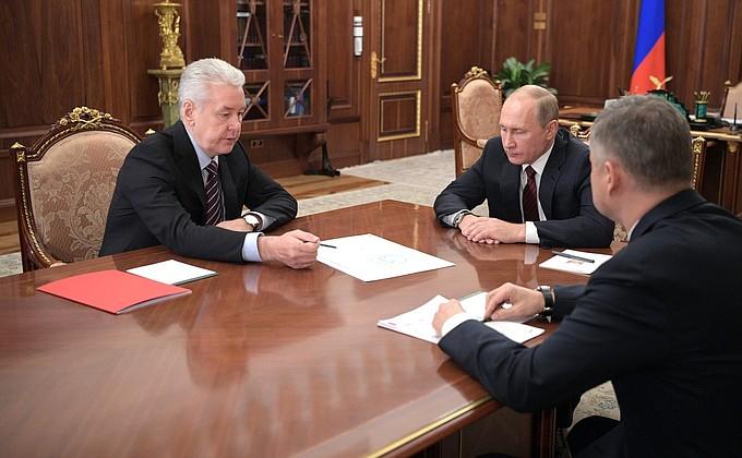 Сергей Собянин представил Владимиру Путину проект новой ветки наземного метро