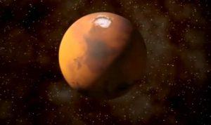 Зонд с чипом будет отправлен на Марс в мае 2018 года. Фото: Скриншот с видео Youtube (https://youtu.be/RkMCAjQ4LLE)