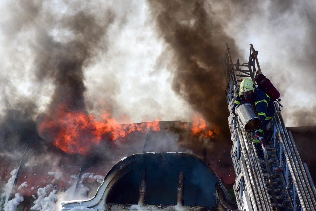 """Пожарные спасли семь человек в центре Москвы. Фото: архив, """"Вечерняя Москва"""""""