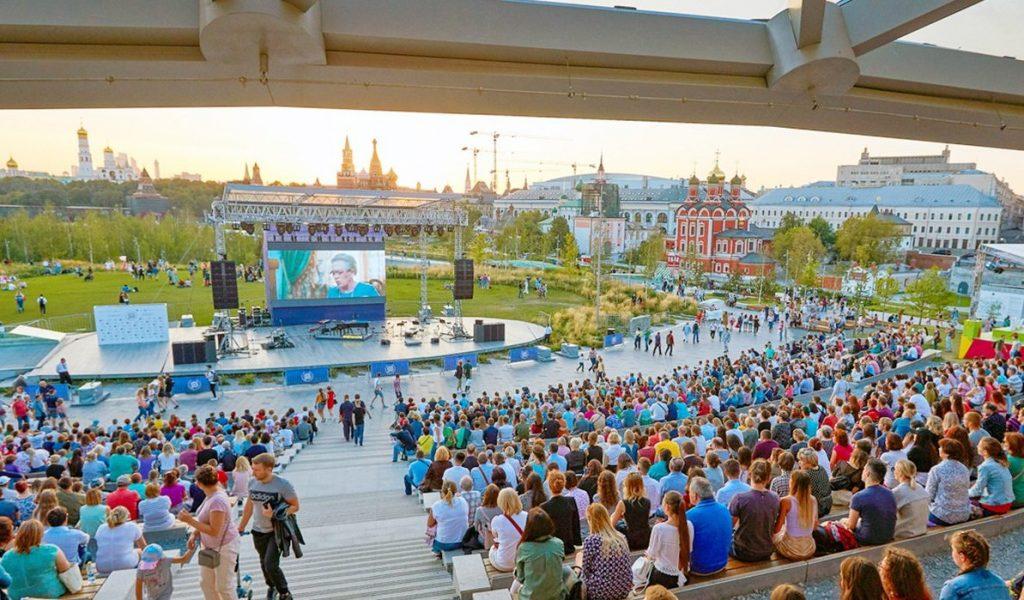 Парк «Зарядье» стал самой популярной площадкой акции «Ночь кино»
