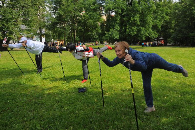 Занятие по скандинавской ходьбе проведут в районе Якиманка