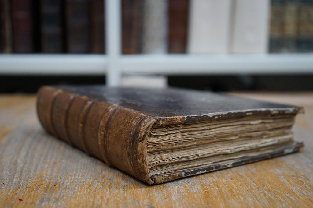 Дневник XIX-го века, в котором и нашли письмо Ивана Тургенева. Фото: Михаил Прядко