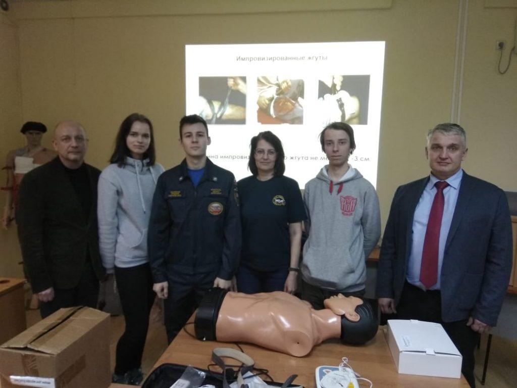 Занятие по оказанию первой помощи для студентов - спасателей  прошло в ЦАО
