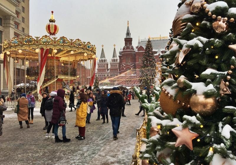 Лучшие места для празднования Рождества в Москве