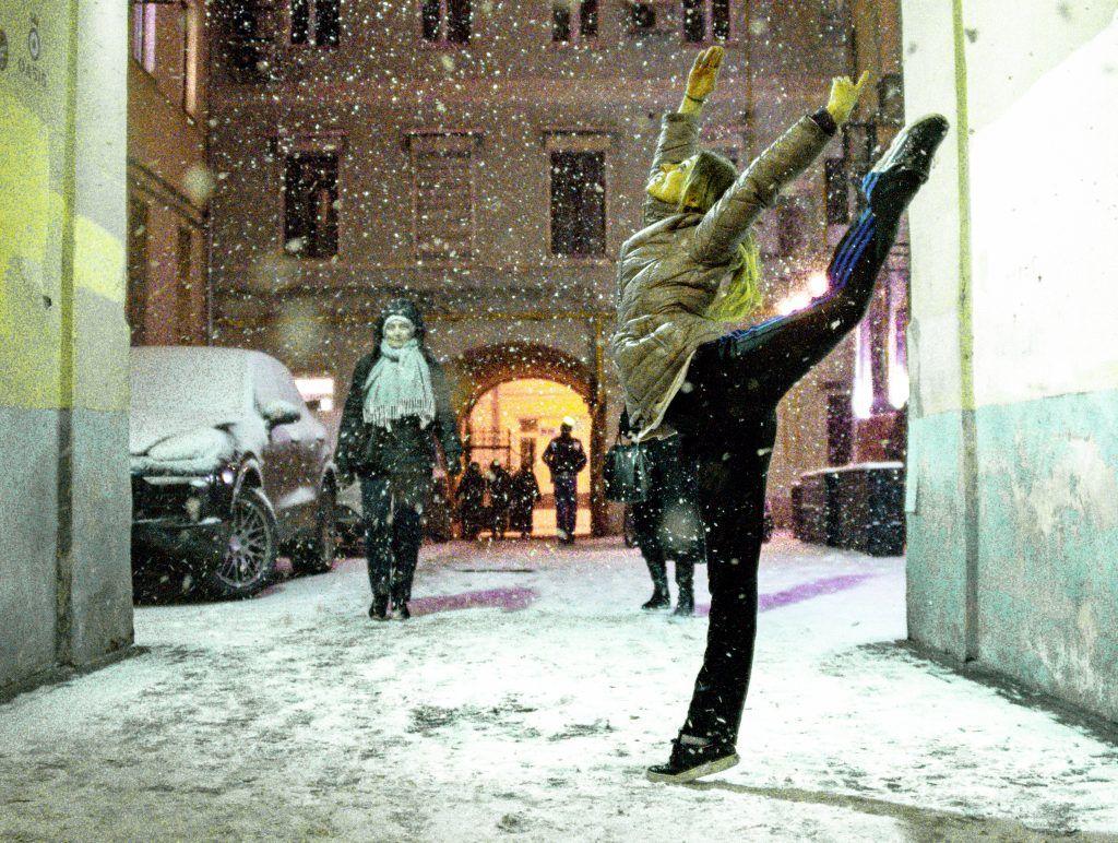 Фотофакт: Страстной бульвар вдохновил на танец