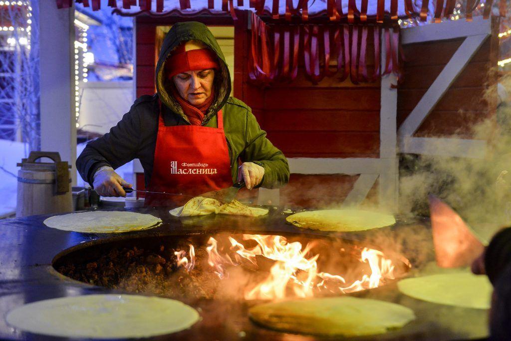 Свыше 200 фуд-шоу организуют на площадках фестиваля«Московская масленица»