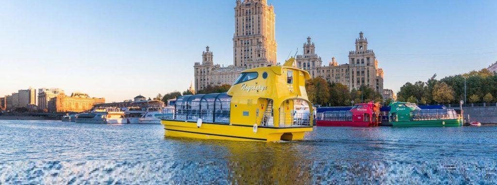 Речные трамваи с цветочными названиями начали курсировать по Москве-реке