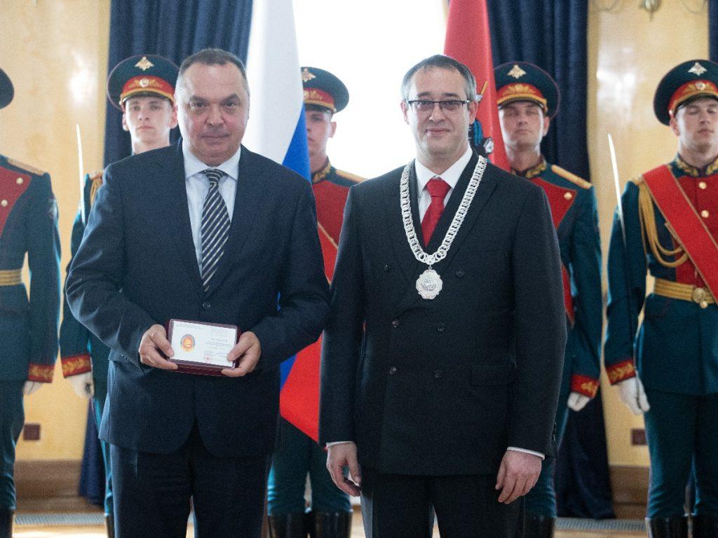 Управление Росреестра по Москве отмечено Почетным знаком Мосгордумы за вклад в развитие столицы