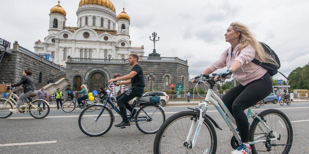 Схему движения изменят в центре Москвы во время велофестиваля