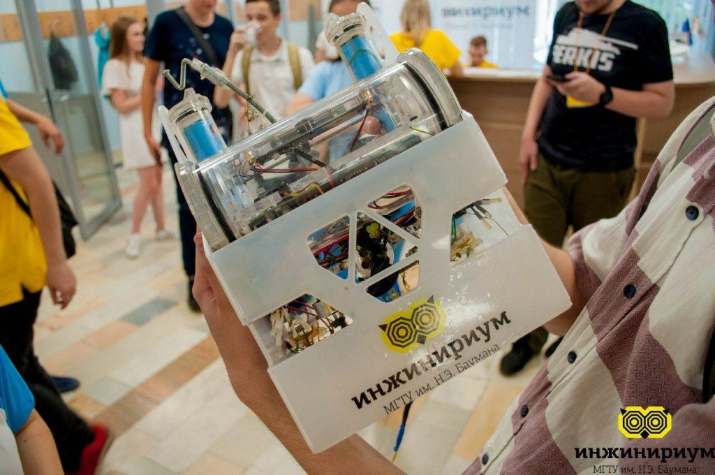 20 апреля 2019 года. 3D-модель робота, разработанного учениками «Инжинириума МГТУ имени Баумана». Фото: Инжинириум МГТУ им. Баумана