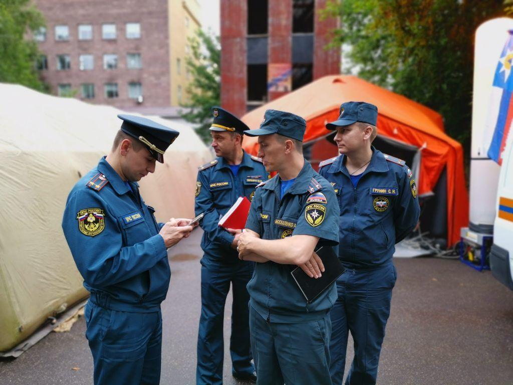 Внеочередная тренировка оперативной группы Центрального административного округа состоялась в Москве