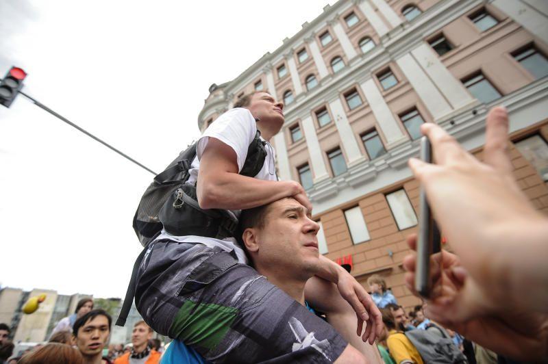Митинг оппозиции на Трубной площади провалился. Фото: Пелагия Замятина, «Вечерняя Москва»