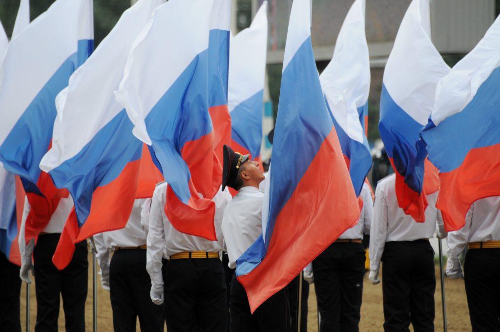 Перед митингом-концертом на Сахарова провели масштабный флешмоб.Фото: архив, «Вечерняя Москва»
