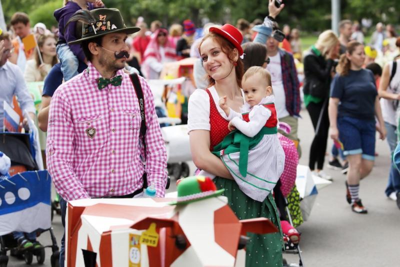 Карнавальный «Парад колясок» пройдет на Тверском бульваре. Фото: архив, «Вечерняя Москва»