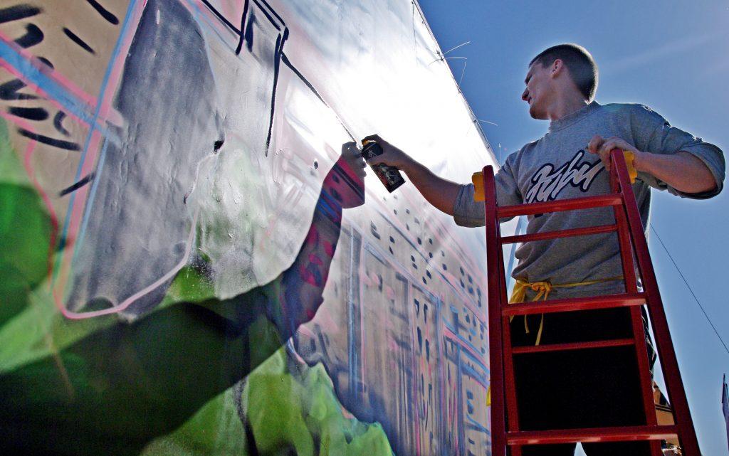 Социальное граффити с амурским тигром появилось в центре Москвы