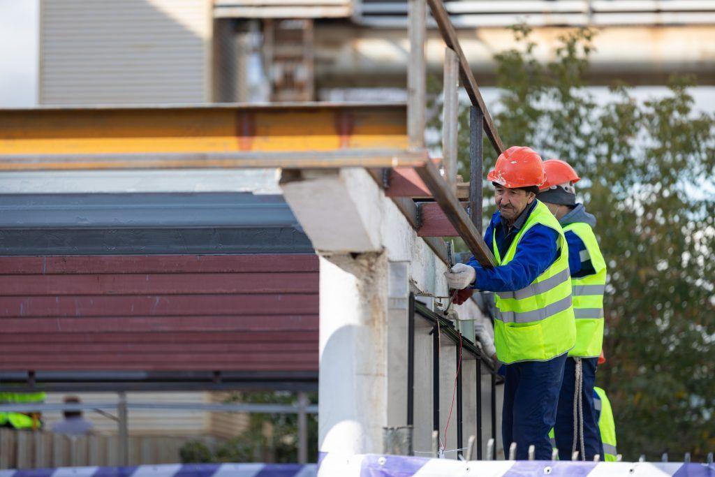 Навесы «Огни города» установят на станции «Беговая» к запуску МЦД. Фото: пресс-служба Департамента транспорта