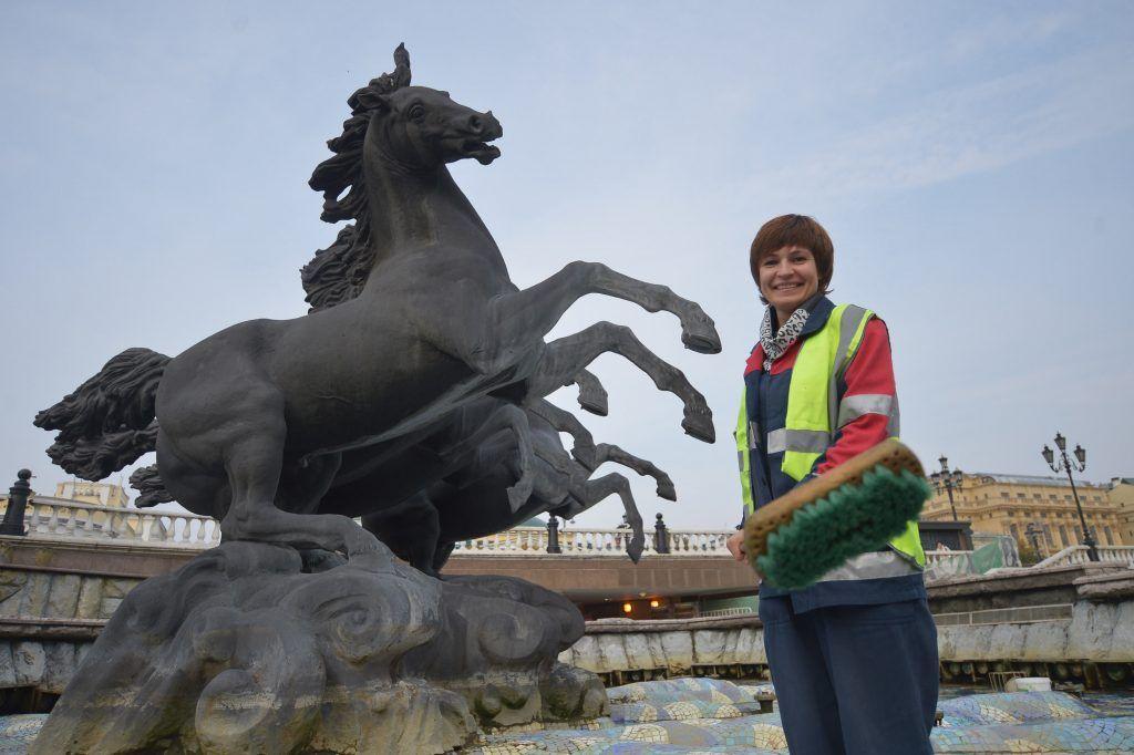 Московские фонтаны проработают еще шесть дней