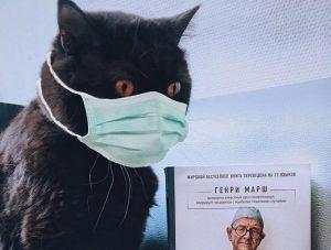 1 июля 2019 года. Кот по кличке Бегемот «изучает» очередную книгу