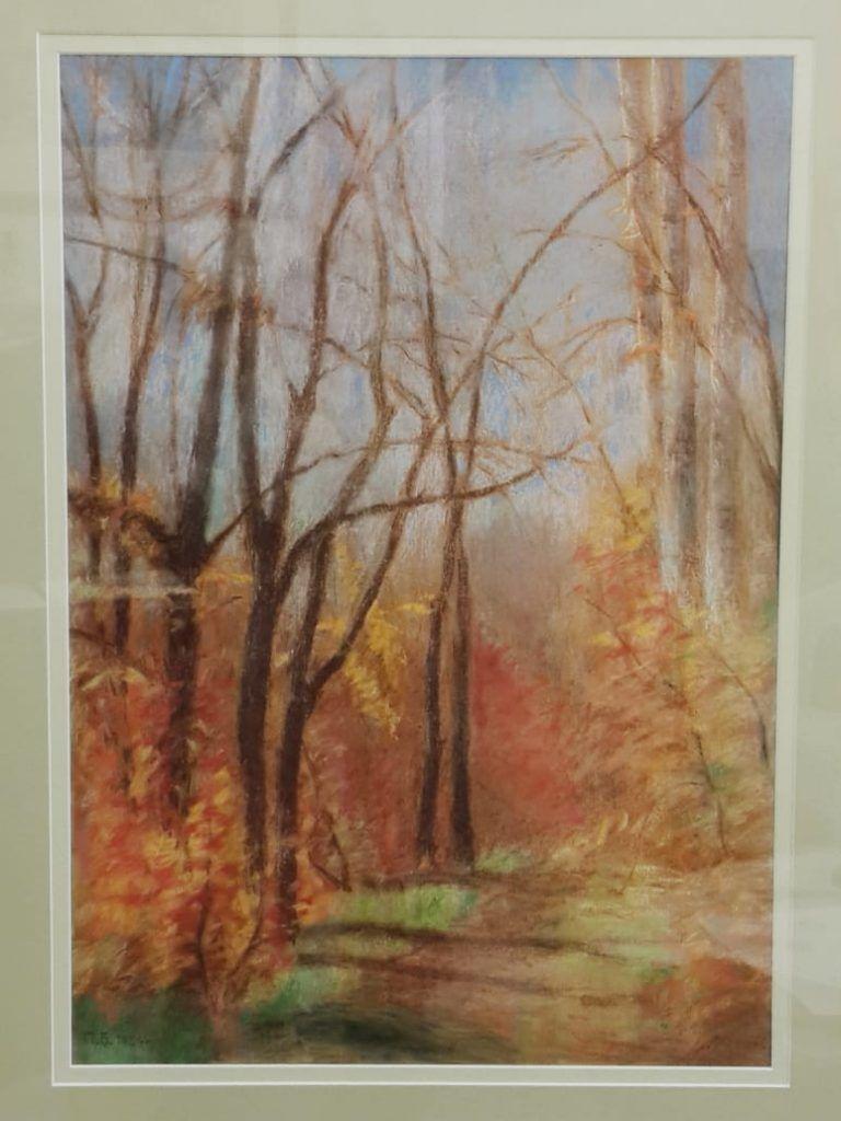 Картина Павла Бродского «Осенняя аллея», 1984 год