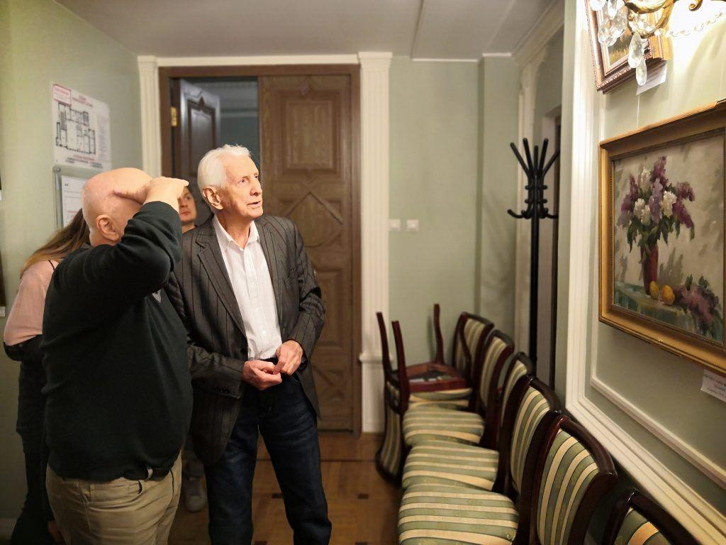 Павел Бродский на персональной выставке в филиале «Тверской» ТЦСО «Арбат»