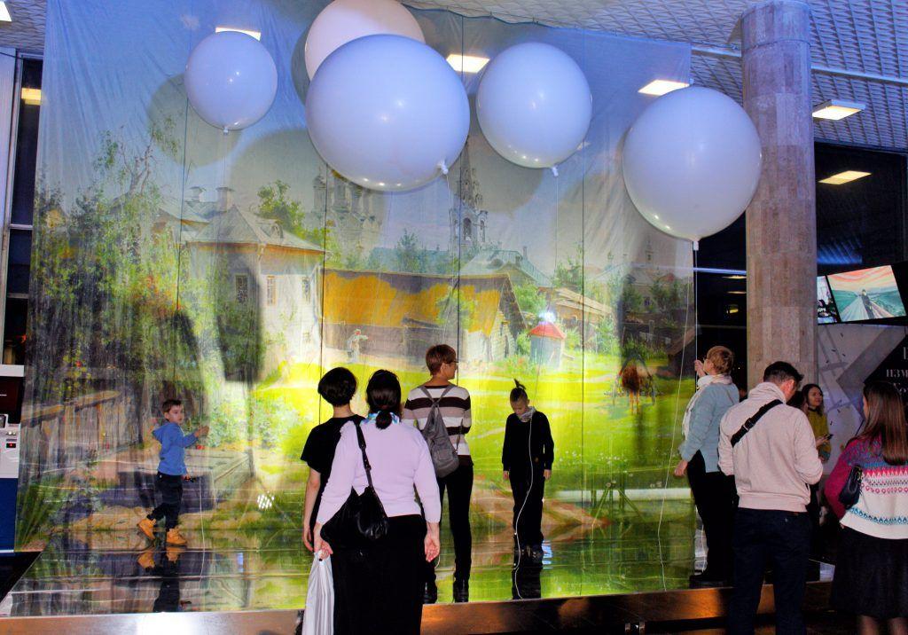 Интерактивную звуковую инсталляцию подготовили для гостей Новой Третьяковки. Фото: Алена Наумова