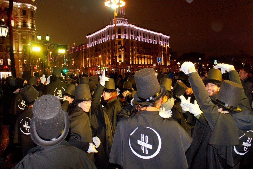 Перформанс продемонстрировали актеры московских театров. Фото: Алена Наумова