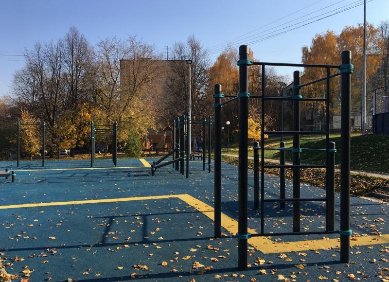 Тренажеры отремонтируют на спортивной площадке в районе Замоскворечье. Фото: Анна Быкова