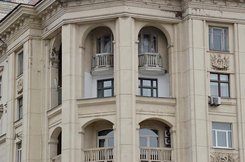 Фасад дома отремонтировали в районе Арбат