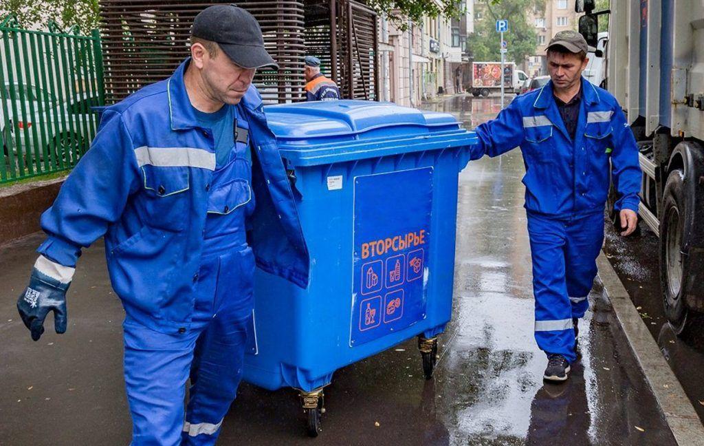 Контейнеры для раздельного сбора мусора установили в районе Замоскворечье