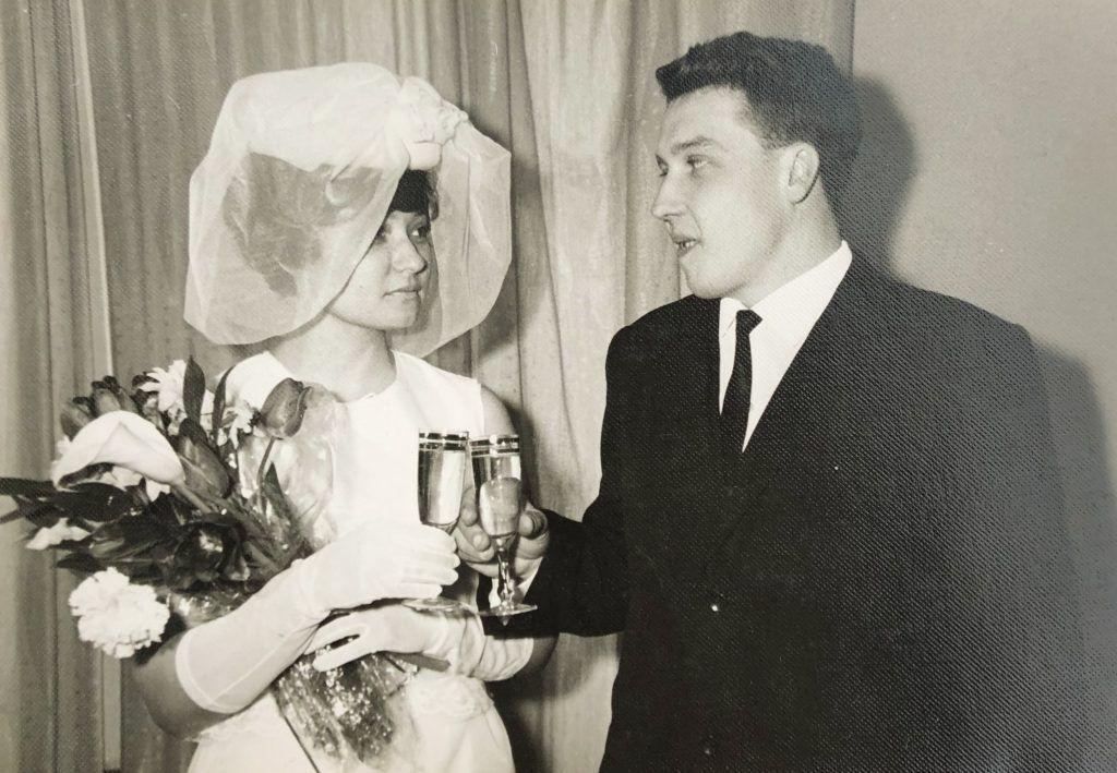 13 апреля 1967 года. Свадьба Ирины и Валерия Шамотко. Фото из личного архива