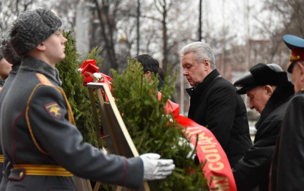 Сергей Собянин почтил память павших в Битве под Москвой