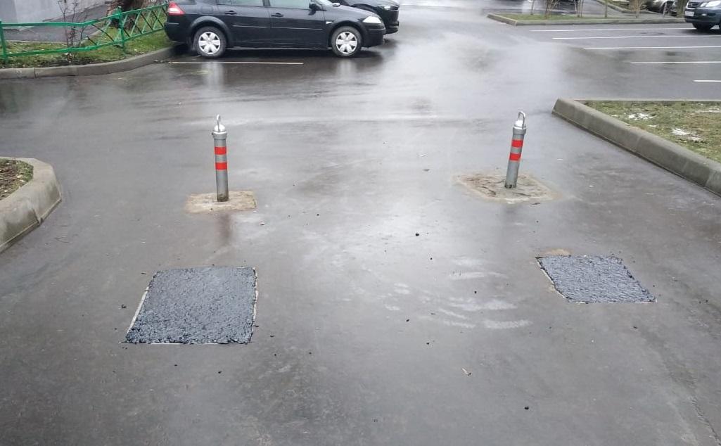 Тротуары привели в порядок во дворе Таганского района. Фото предоставлено сотрудниками ГБУ «Жилищник»