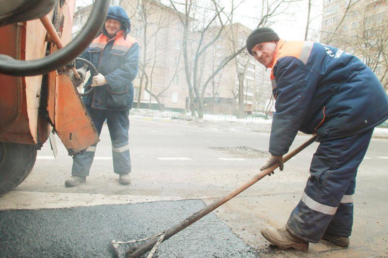 Дорожное покрытие привели в порядок в Уланском переулке