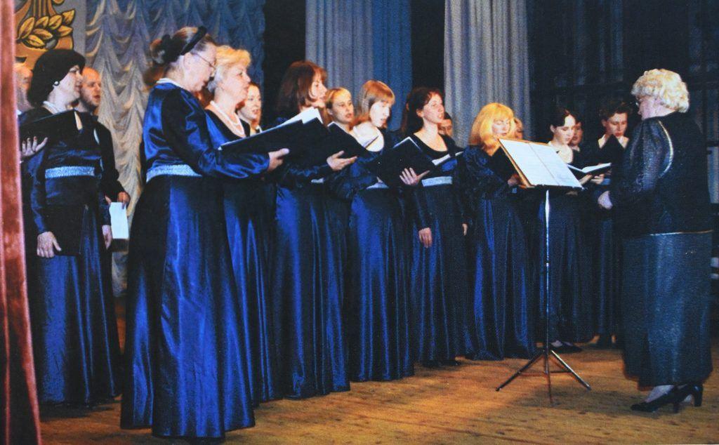 2010 год, Москва. Коллективом «Радуница» Юлия руководила с 1987 года. Фото из личного архива