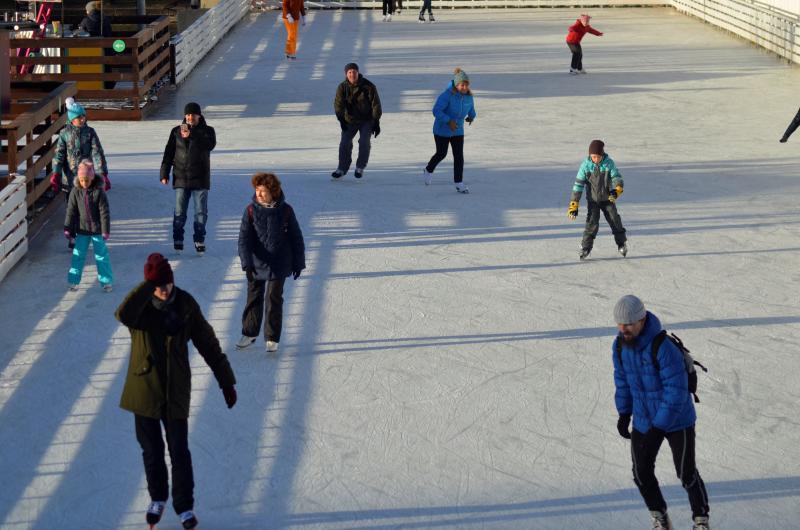 Москвичи смогут принять участие в соревновании по конькобежному спорту в Пресненском районе