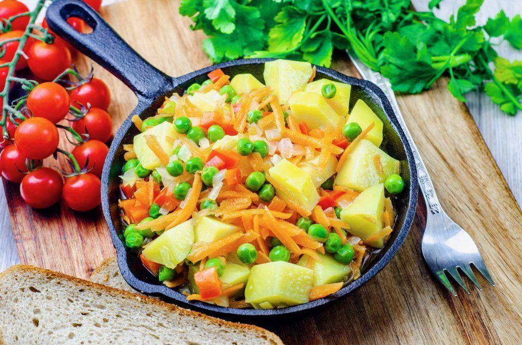 Полезное овощное рагу