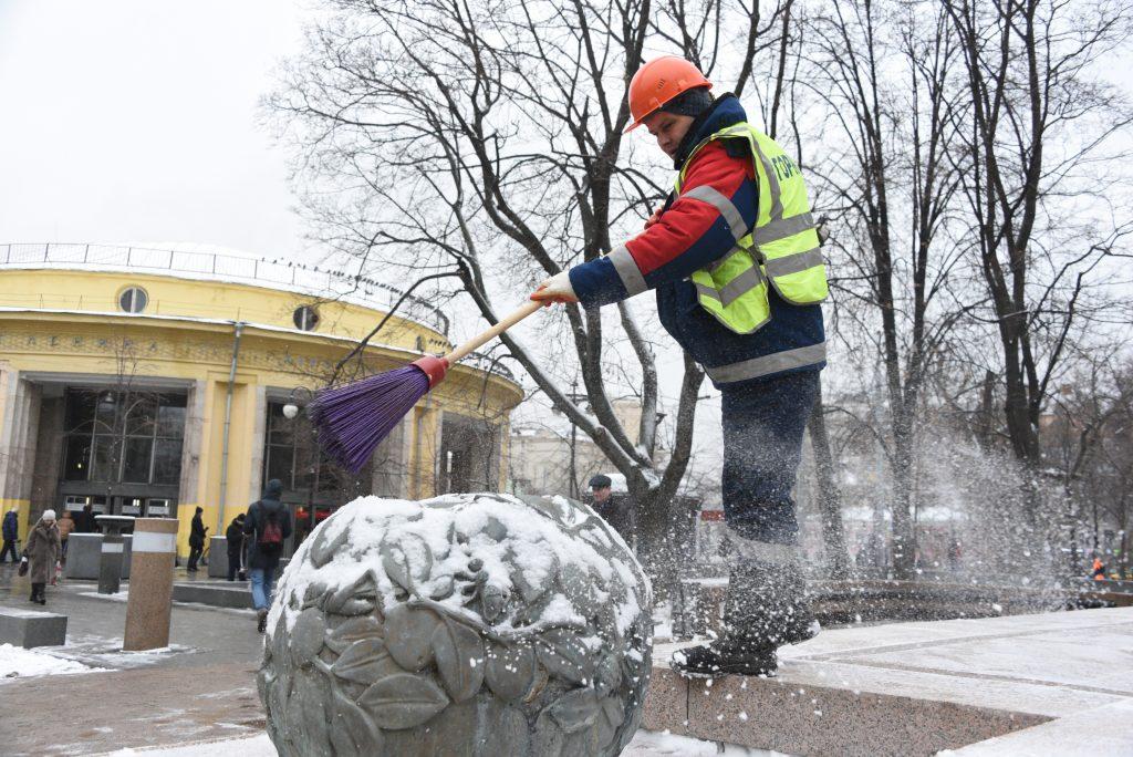 Снег пройдет перед выходными в Москве