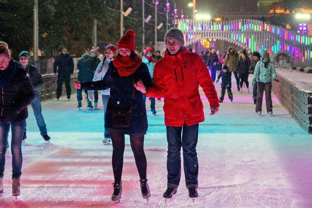 В Таганском парке и Саду Баумана проведут дискотеку на льде для влюбленных. Фото: сайт мэра Москвы
