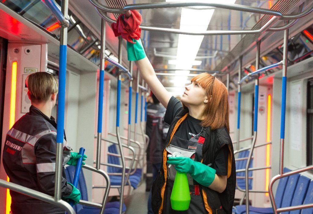 Меры дезинфекции усилили в общественном транспорте в столице