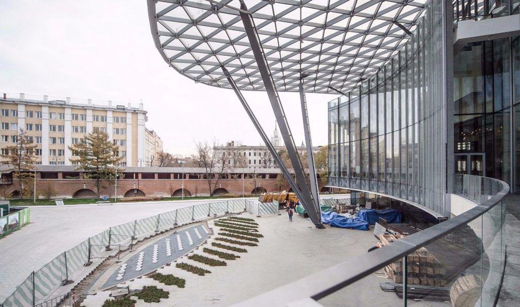 Павильоны в парке «Зарядье» закрыли для посещения до 10 апреля. Фото: сайт мэра Москвы