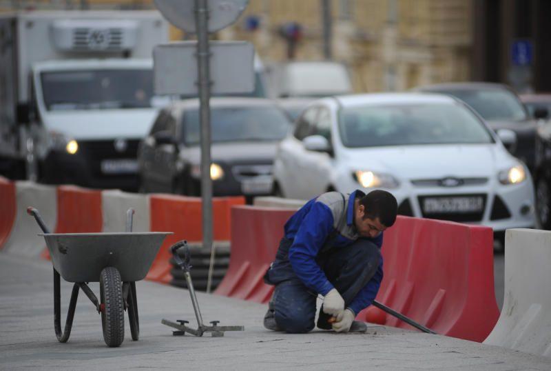Плиточное покрытие отремонтировали в районе Якиманка