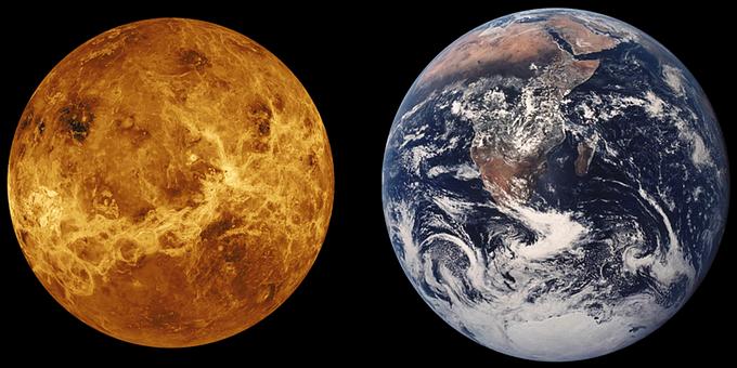 Планеты Венера и Земля называют «сестрами», так как они примерно одинаковы по размеру и поверхности. Фото: pixabay