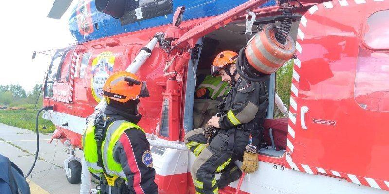 На пожары будут привлекать спасателей Московского авиацентра. Фото предоставили в пресс-службе Департамента ГОЧСиПБ Москвы