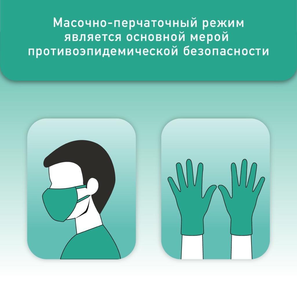 Соблюдение масочно-перчаточного режима позволит избежать новой вспышки коронавируса