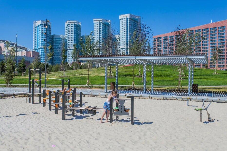 Москвичам рассказали о необычных детских площадках в столице